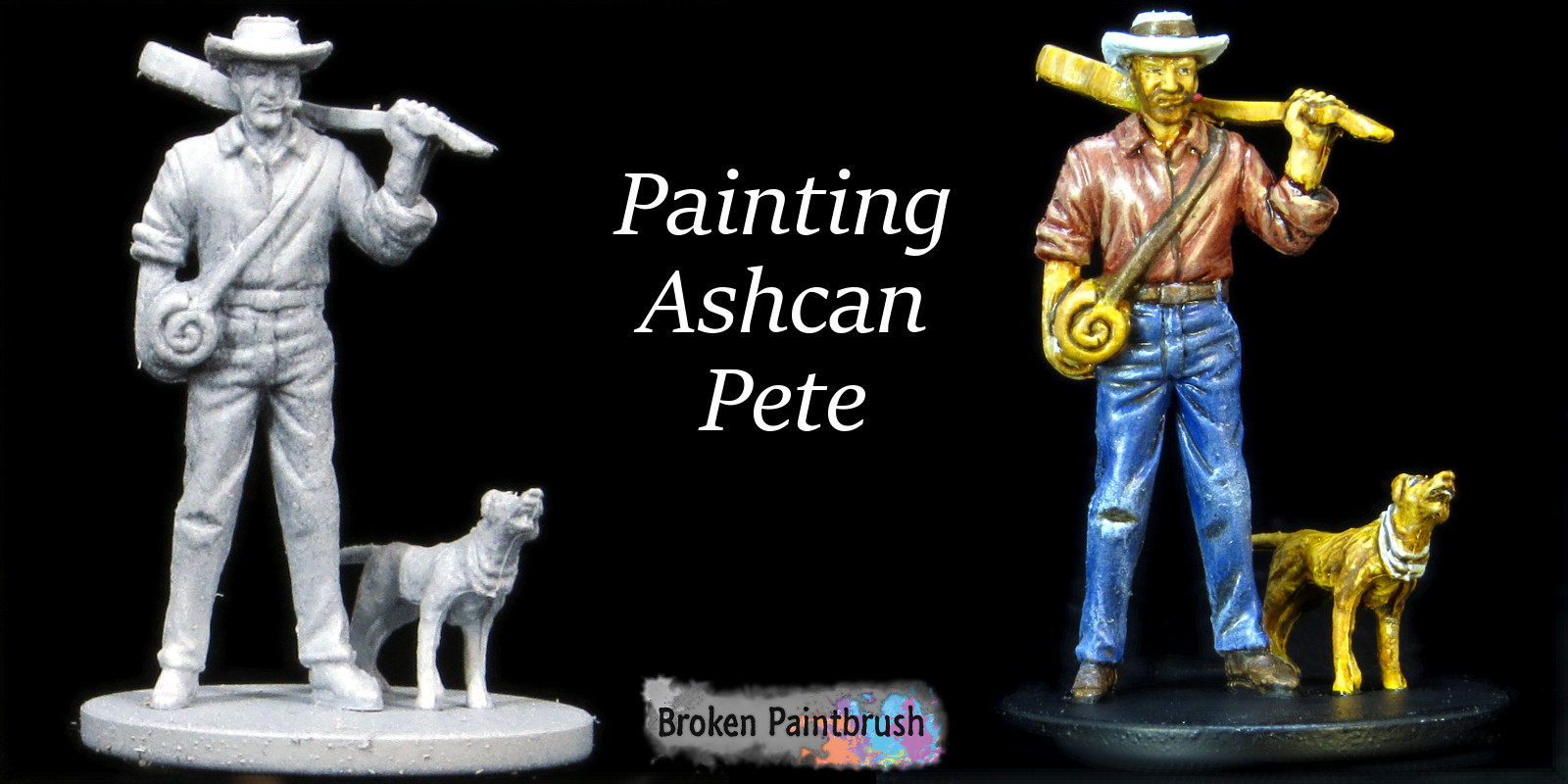 Painting tutorial for Ashcan Pete