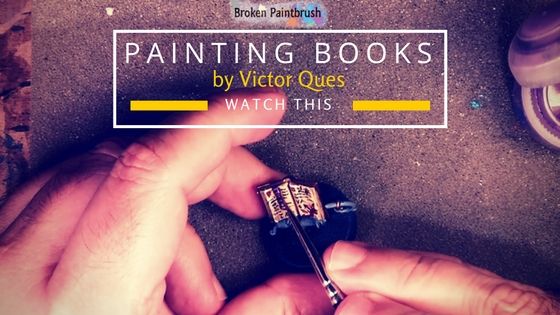 Watch how to paint books and freehand text