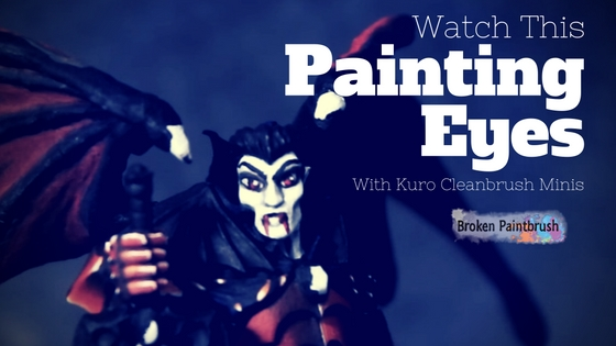 How to Paint Eyes with Kuro Cleanbrush Minis