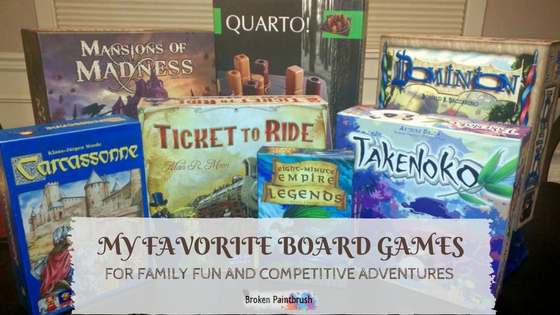 A collection of my favorite family board games