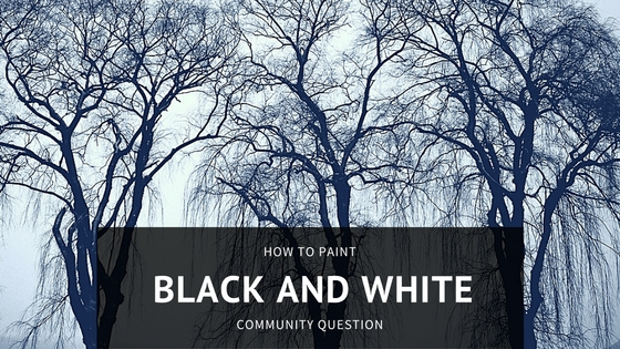 Community Question on how to paint black and white