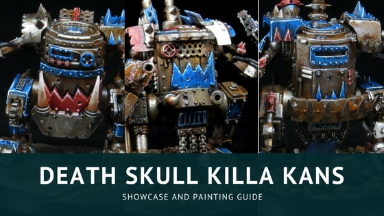 Painting Death Skull Killa Kans and Showcase