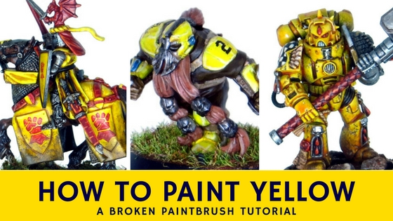 Tutorial on How to Paint Yellow with layers, wash, and one coat paints