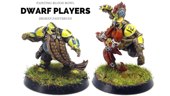 Painting the Dwarf Blood Bowl Team